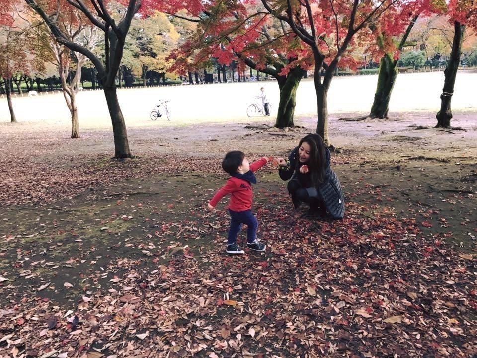 麻衣和王泉仁婚姻觸礁,帶兒定居日本。圖/摘自臉書