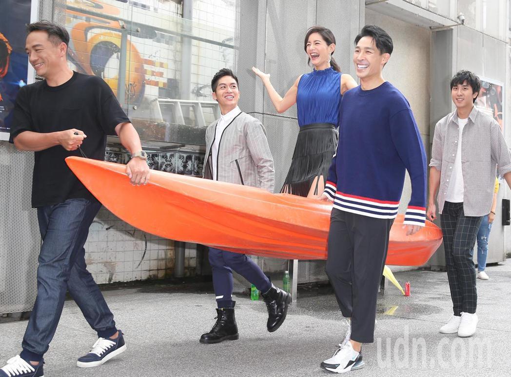 公視新戲《20之後》即將上映,演員張翰(左起)、林孫煜豪、Janet(謝怡芬)、...