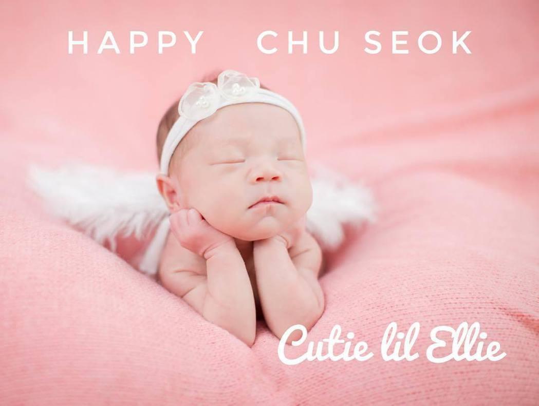 宋米秦透過軟體把女兒Ellie特製成天使模樣,相當可愛。圖/摘自IG