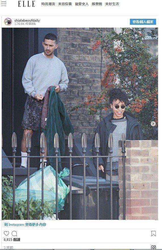 席亞李畢夫已被拍到和FKA Twigs過從甚密。圖/翻攝自IG