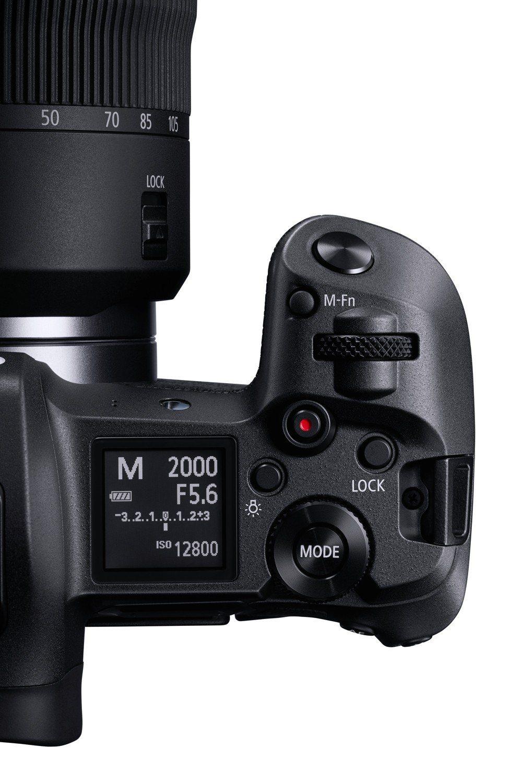 多了一塊機頂螢幕,可顯示各種拍攝資訊與設定。圖/Canon提供