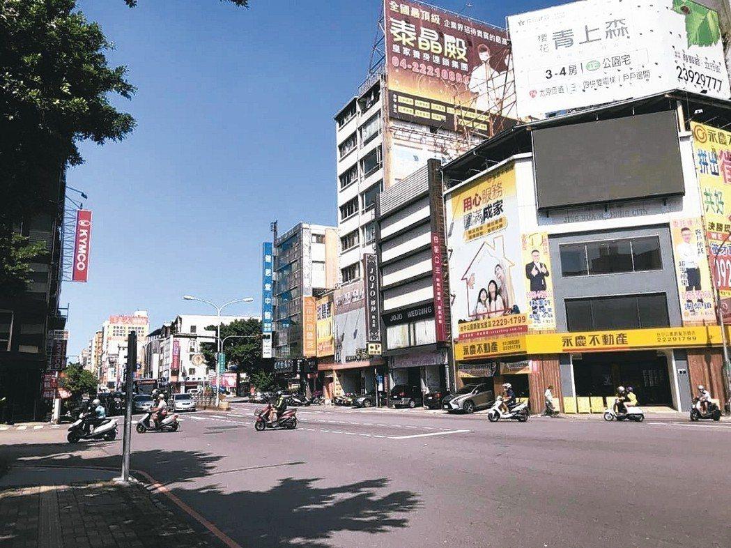 台中市北區街景。 台慶不動產/提供