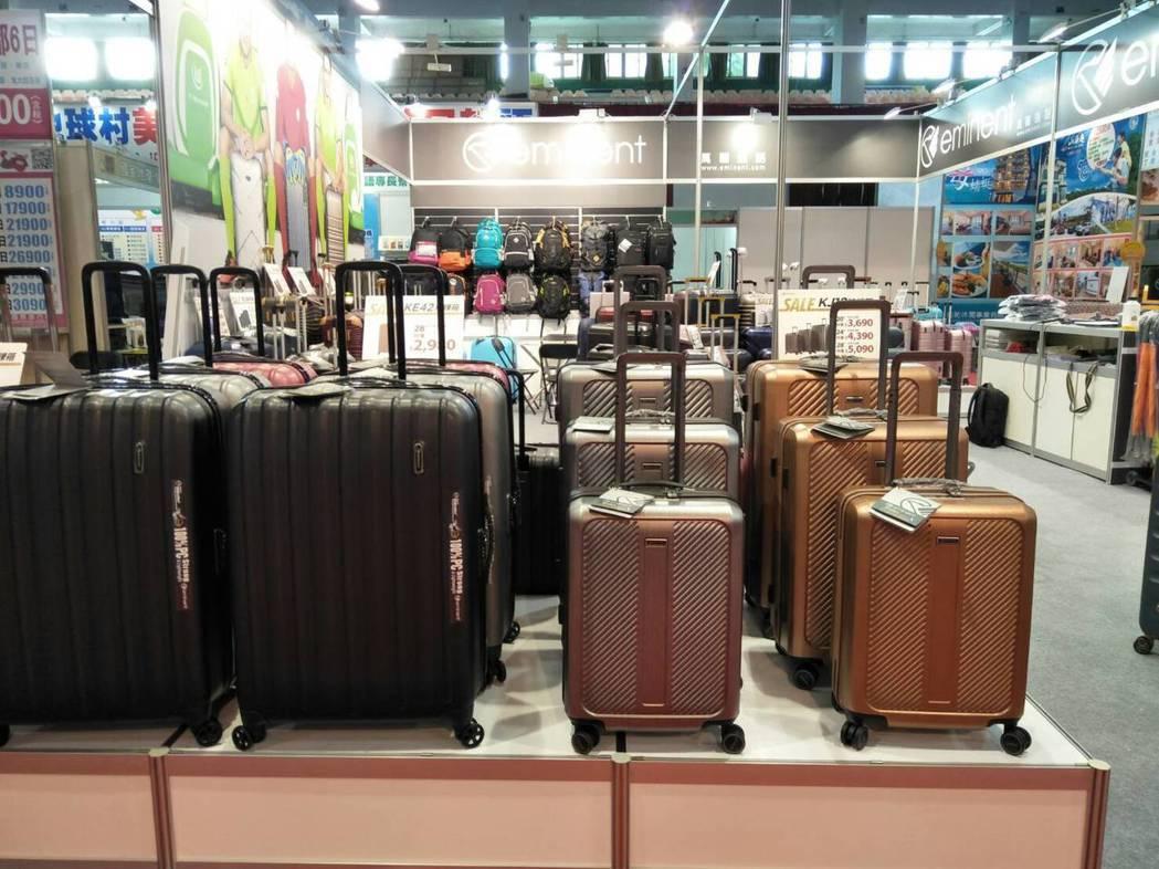 展出一系列行李箱,滿足商務、旅遊人士所需。 萬國通路/提供。