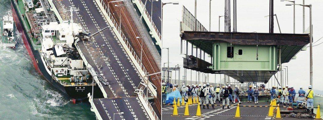 颱風當時遭寶運丸撞上的聯絡橋,經過檢查之後,發現除了南側橋身受損之外,橋墩、鐵道...
