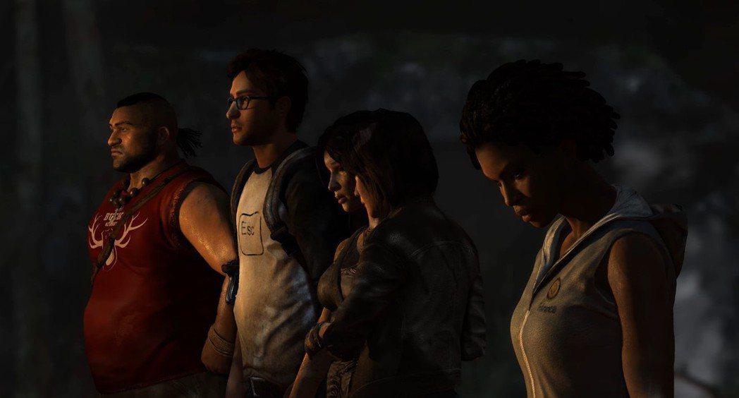 蘿菈與同行的同伴們,左起約拿、艾力克斯、蘿菈、珊曼莎、以及雷耶斯。
