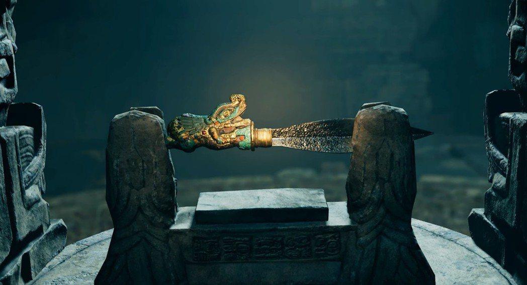 本作的關鍵物品之一,看起來是把匕首,但其實是個掌握某種關鍵的鑰匙。