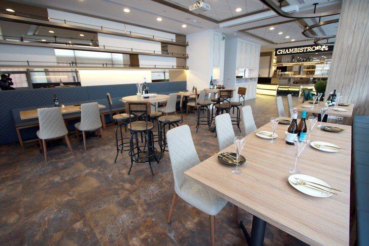 A9 Chambistro享‧香檳海鮮餐酒館10月1日開幕。圖/新光三越提供