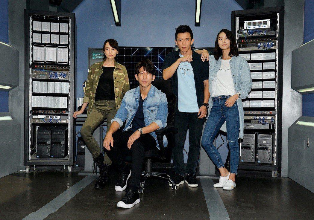 姚以緹(左起)、修杰楷、黃尚禾、鍾瑤演出「浮士德遊戲2」。圖/衛視電影台提供