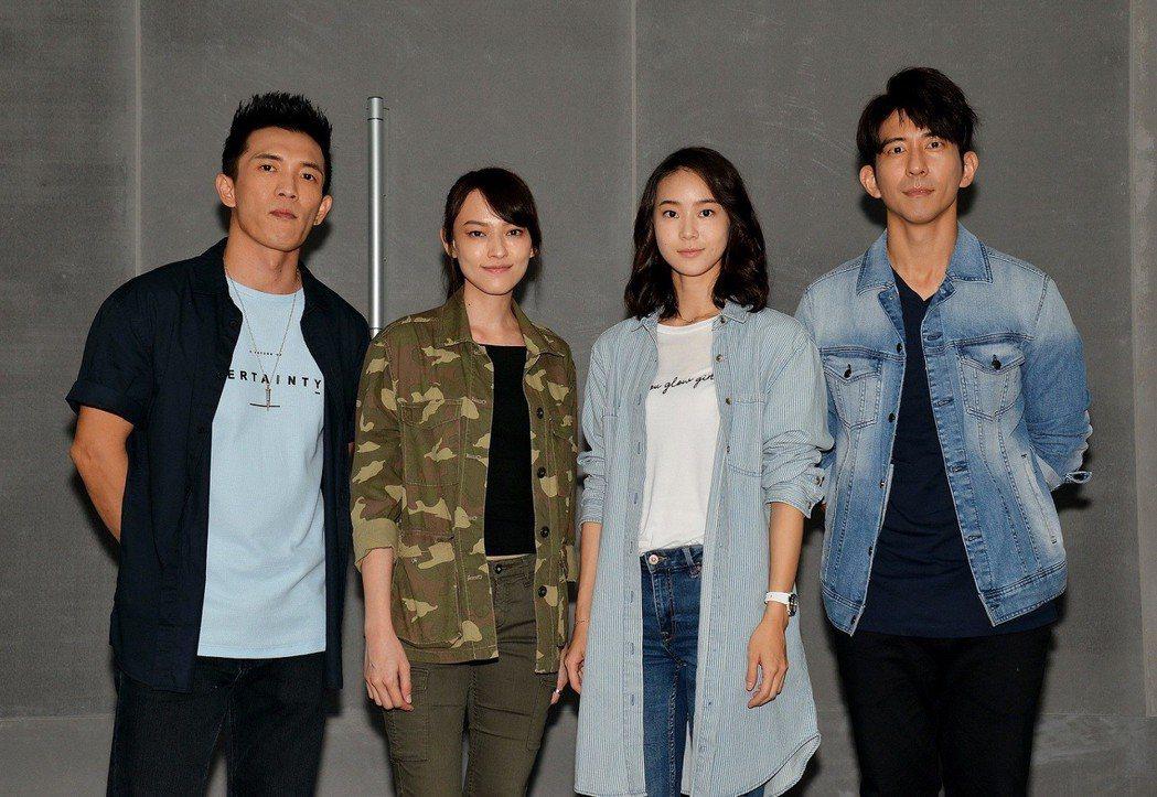 修杰楷(右起)、鍾瑶、姚以緹、黃尚禾演出「浮士德遊戲2」。圖/衛視電影台提供