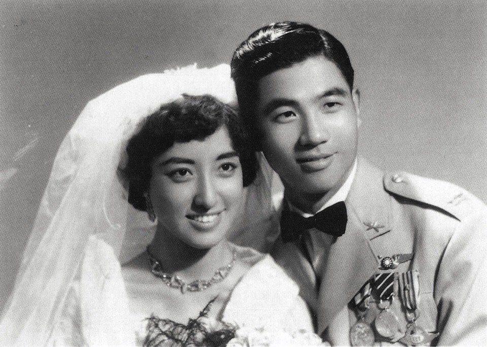 張立義、張家淇的結婚照,1956年。 圖/楊佈新提供