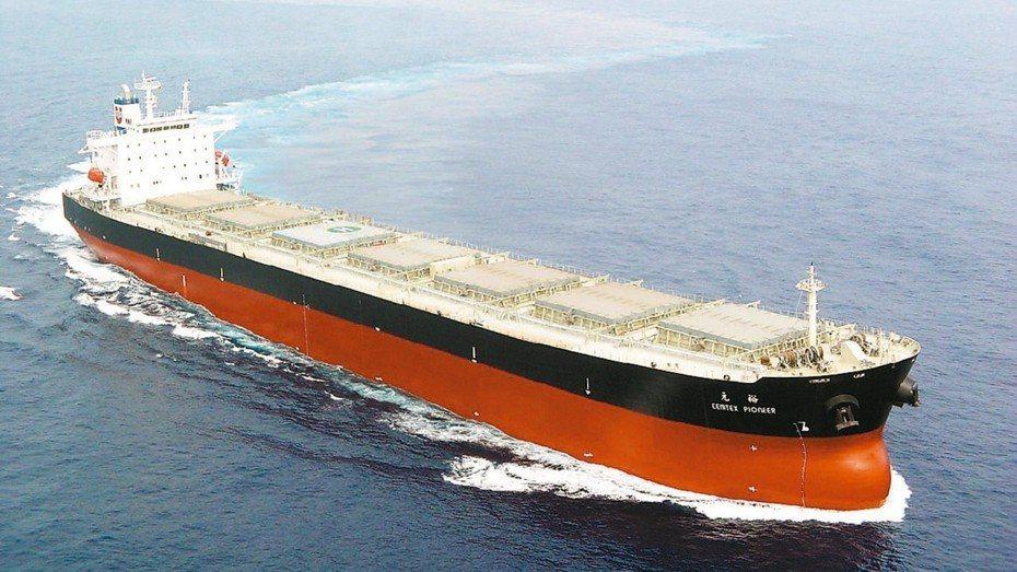 BDI(波羅的海運價指數)漲勢再起,創下五年半以來新高。圖為裕民航運巴拿馬極限型散裝船。 裕民航運/提供