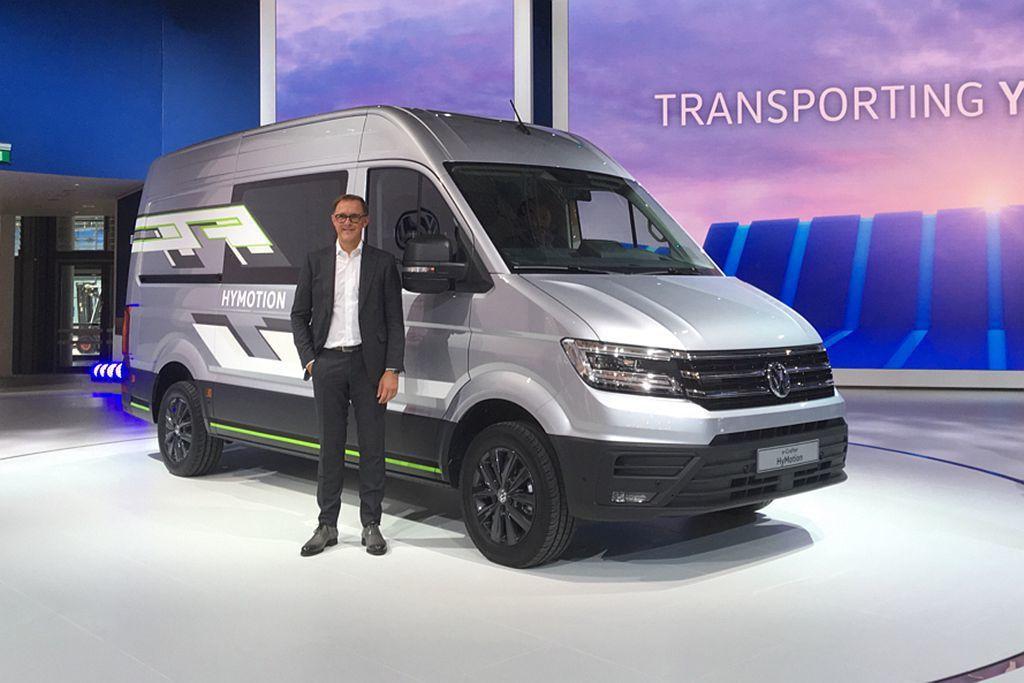 今年德國IAA商用車展,福斯商旅大舉展示電能發展成果。 圖/福斯商旅提供