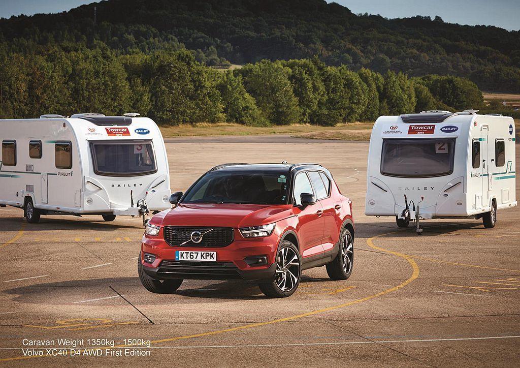 歐洲年度風雲車的Volvo XC40,則獲得1350kg-1500kg級距表現最...