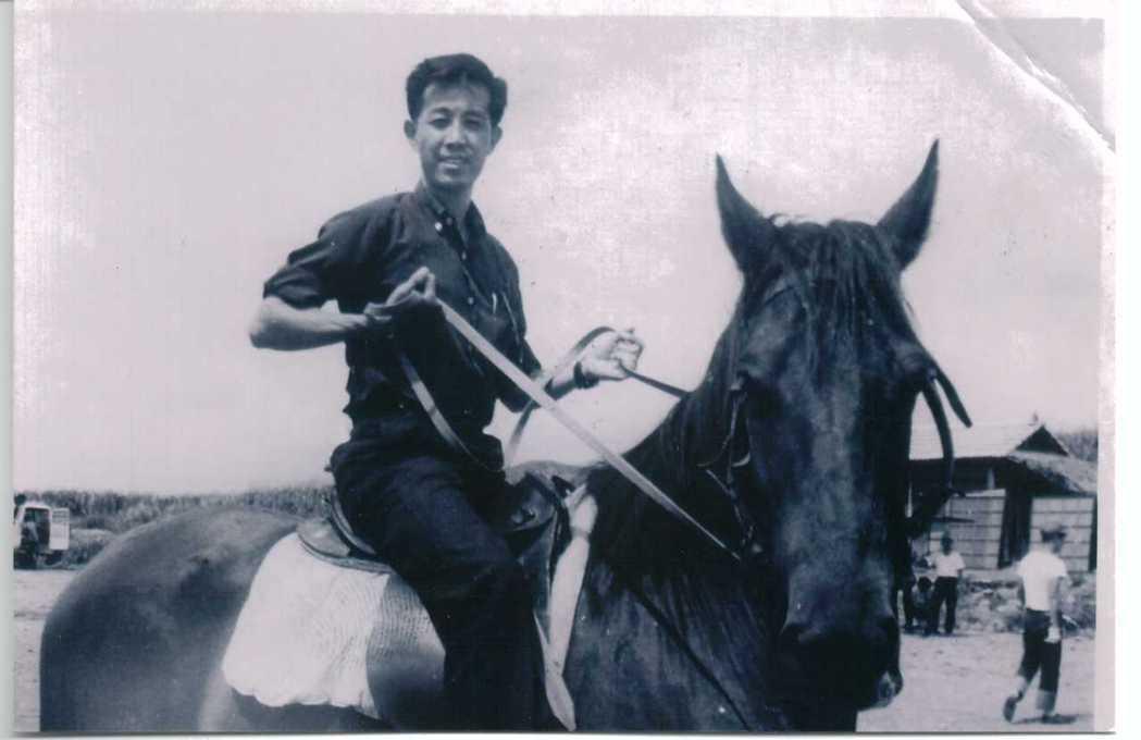 高振鵬拍過不少古裝戲也很會騎馬。圖/高振鵬提供