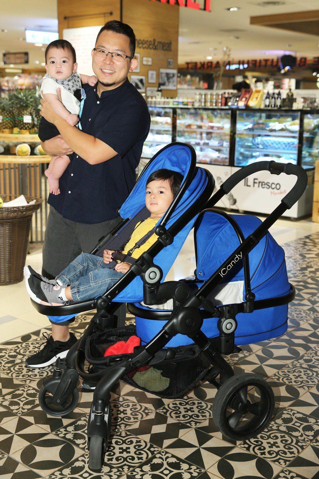 小威擁有兩個可愛的兒子。記者徐兆玄/攝影