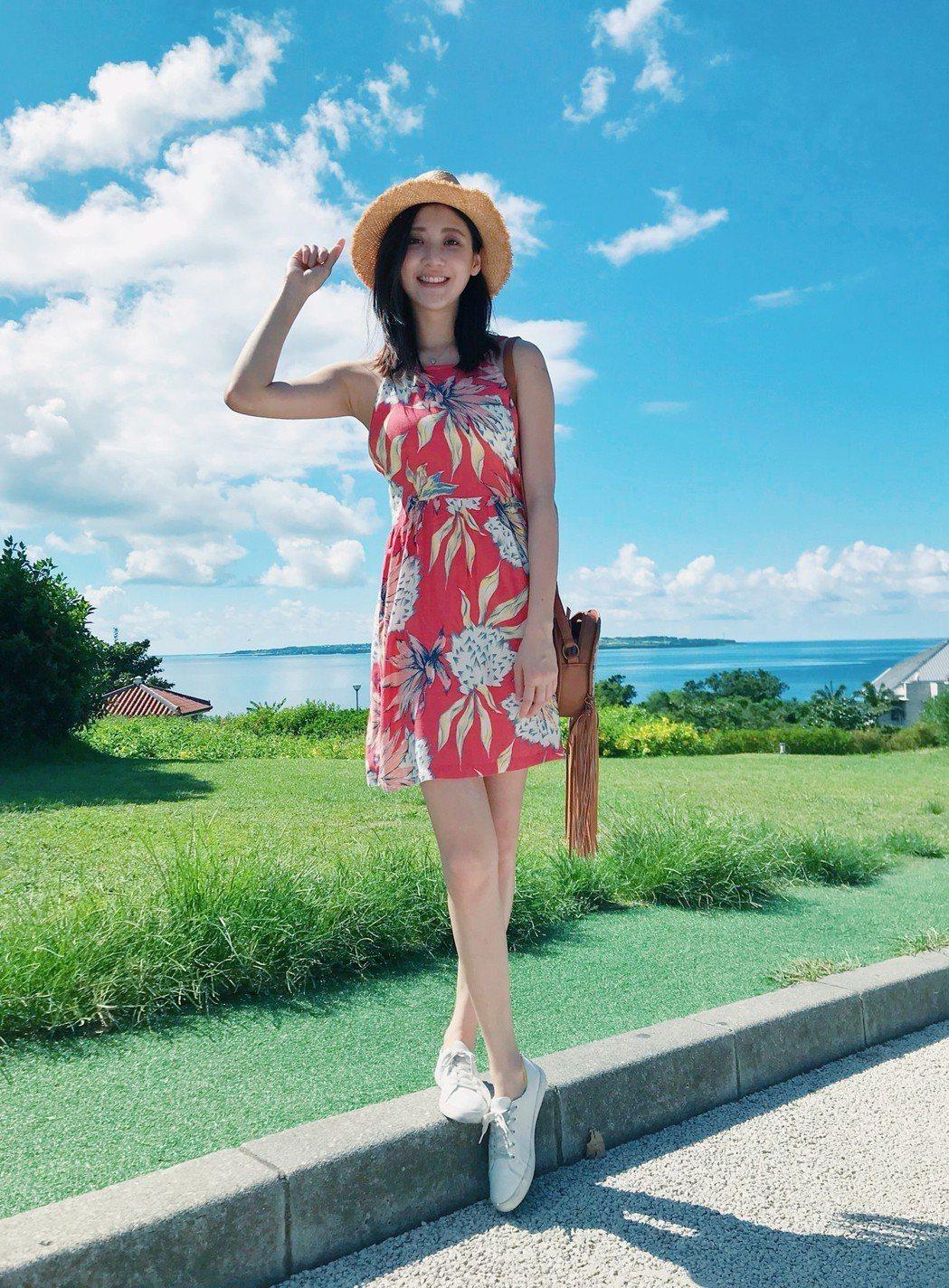 林逸欣赴沖繩旅行。圖/鑫羽工作室提供