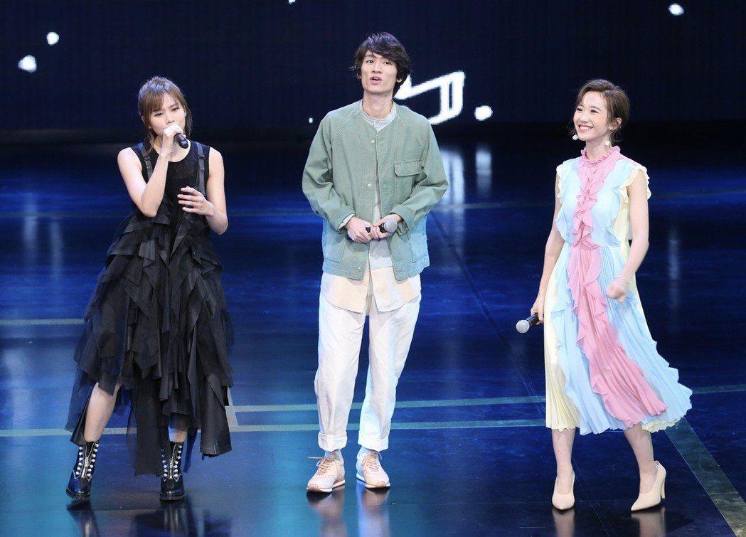 吳汶芳、柯智棠、Lulu合唱。記者許正宏/攝影
