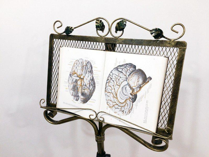 一進敬智學苑大門,迎賓的是複雜大腦的書籍。 攝影╱陳韻如、吳貞瑩