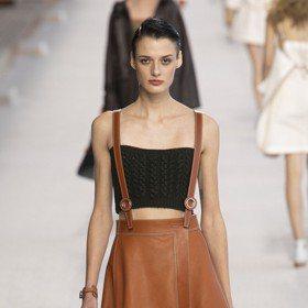 巴黎時裝周/吊帶長裙配小可愛 愛馬仕新裝性感不落俗套