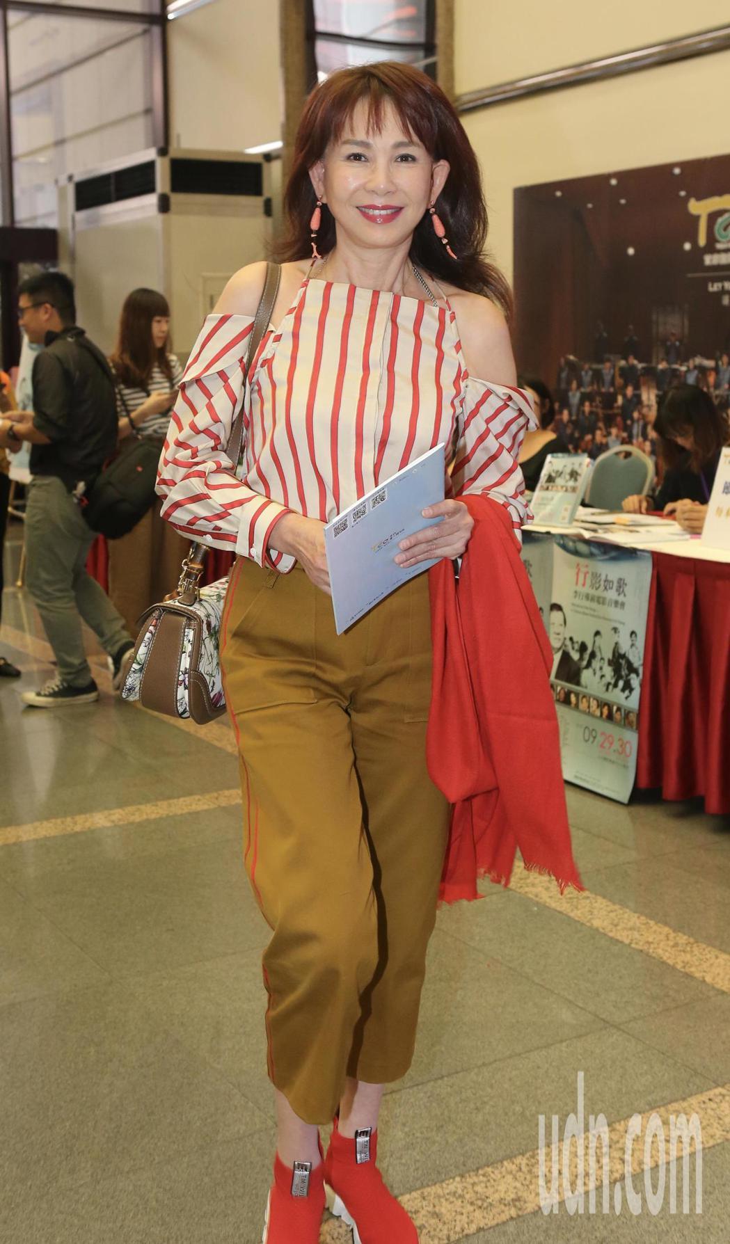 李行導演音樂會,藝人周丹薇出席活動。記者許正宏/攝影