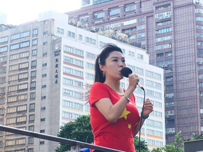 在中國大陸發展的台籍女星劉樂妍。記者李隆揆/攝影
