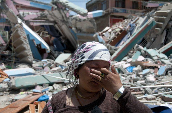 2015年4月,尼泊爾發生強烈地震。 新華社