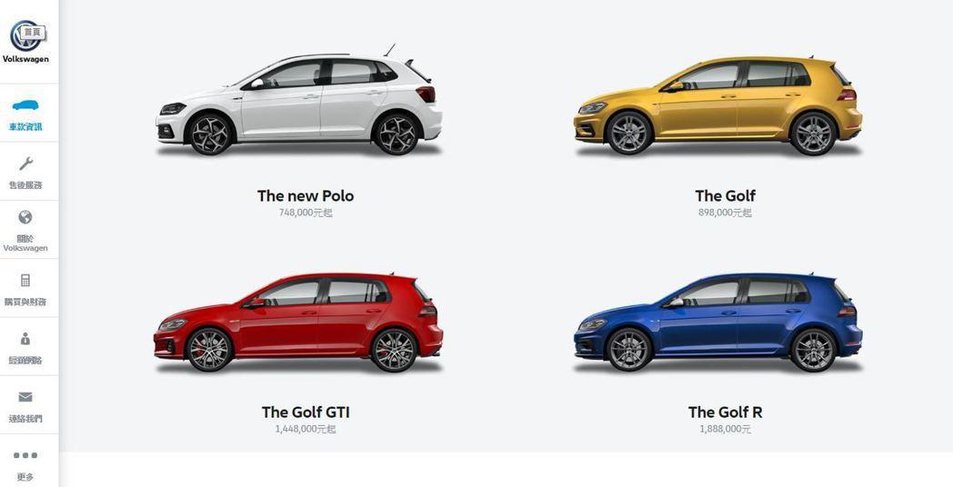 調查顯示,62%的新車車主會自己先在網路上挑選新車,其中43%的人是造訪汽車品牌原廠的網站、38%的人則是參考第三方業者的網站。 圖截自Volkswagen