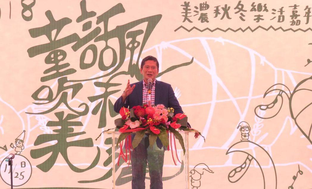 客委會主委李永得親自出席活動,現場致詞。 李福忠/攝影