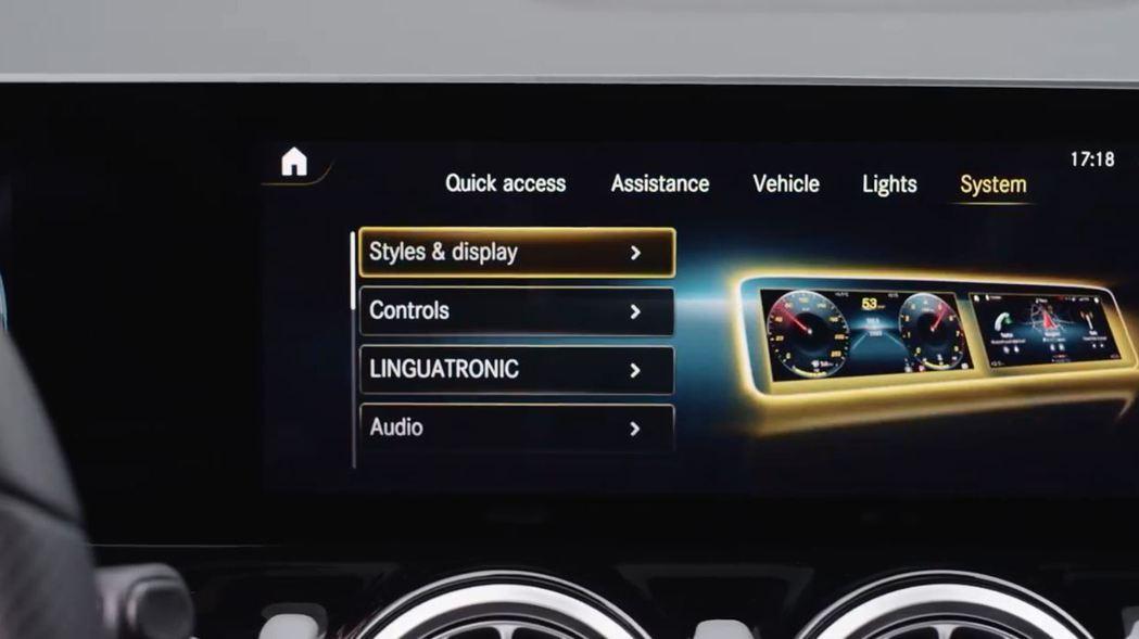 B-Class也搭載新世代的MBUX多媒體資訊整合系統。 摘自Mercedes