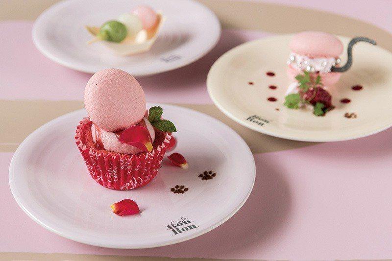 馬卡龍加上蛋糕成為獨家的精緻甜點,大受歡迎。