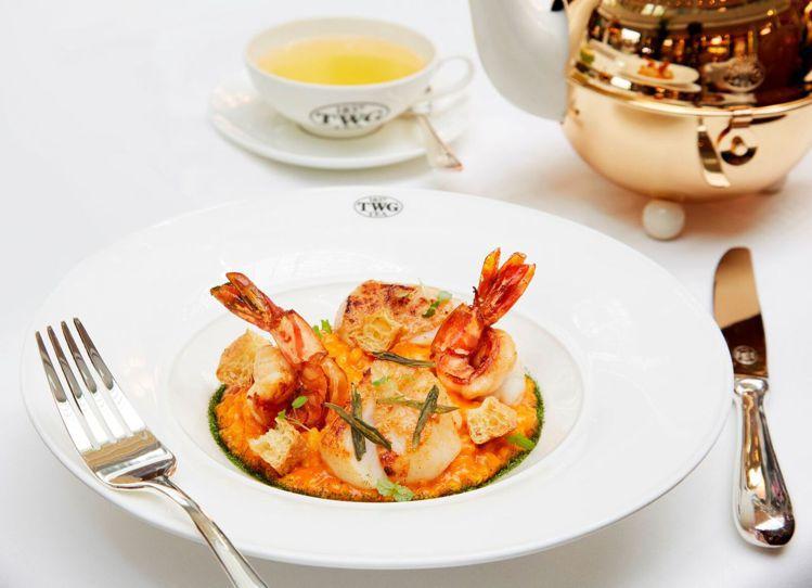 新加坡國宴套餐「叻沙海鮮燉飯」在台首賣。圖/TWG Tea提供