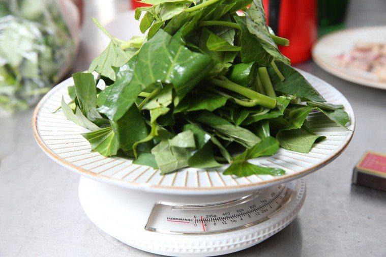 地瓜葉營養豐富。圖/本報資料照片