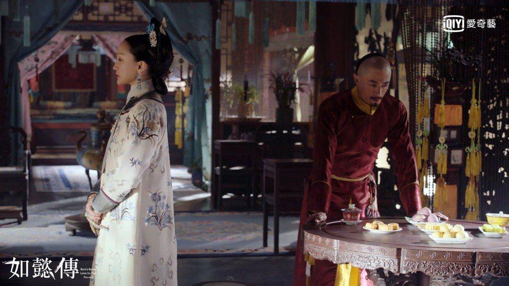霍建華(右)與周迅在「如懿傳」中正式生出嫌隙。圖/愛奇藝台灣站提供