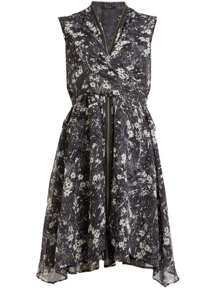 AllSaints女裝Jayda印花洋裝,8,700元。圖/AllSaints提...
