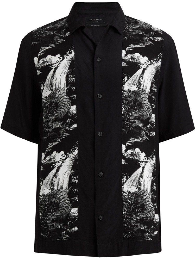 AllSaints Bozeman印花襯衫,4,400元。圖/AllSaints...