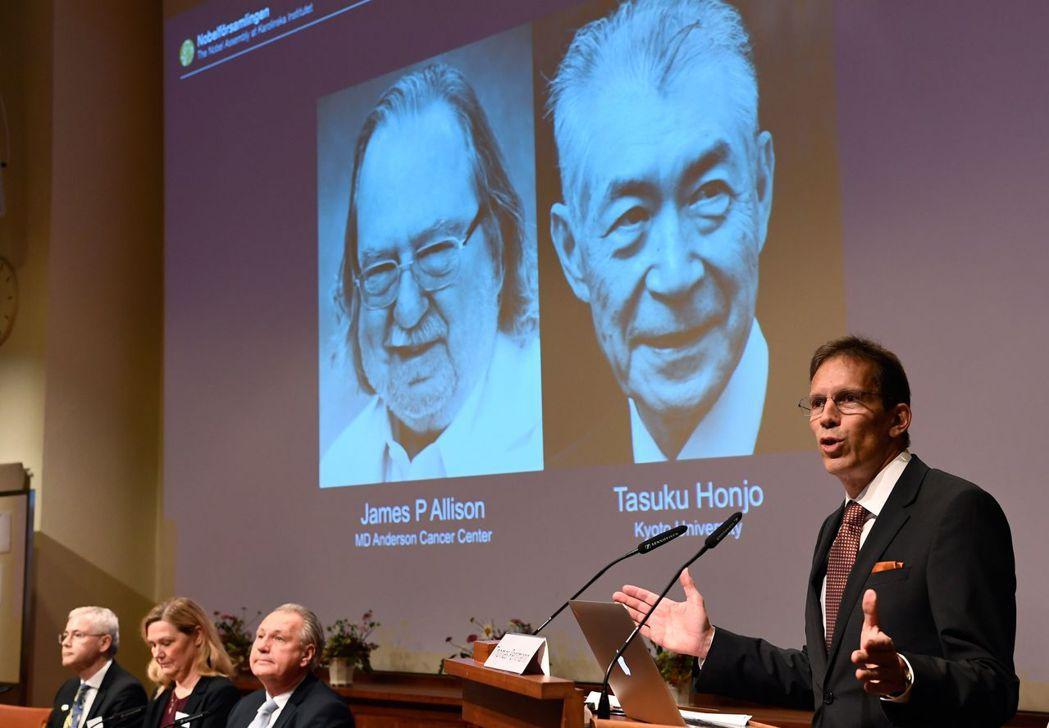 兩位學者獲諾貝爾獎的免疫檢查點抑制劑療法,被許多癌症患者視為最後一線希望。(法新...