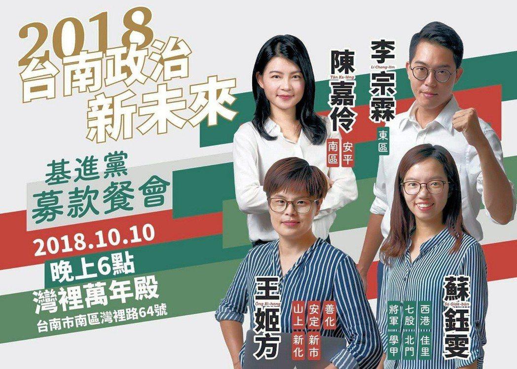 基進黨台南市議員提名人蘇鈺雯、王姬方投入選戰迄今,分別瘦了8公斤、5公斤,成了另...