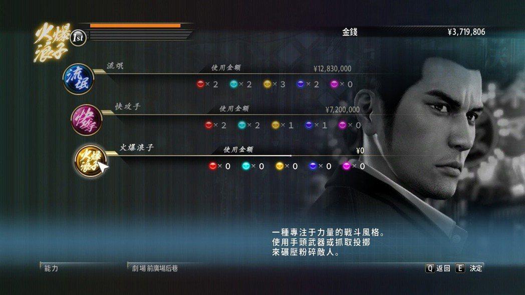 兩名主角擁有三種戰鬥風格,分別代表平衡型、速度型、攻擊型。