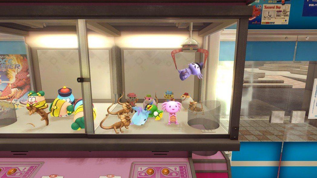 夾娃娃機能夠找到許多可愛的公仔,也有支線任務跟娃娃機有關喔!