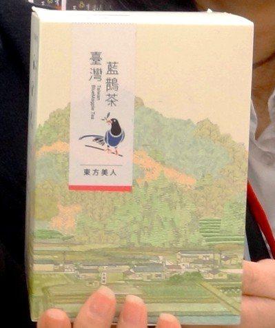 臺灣藍鵲茶目前的商標。圖╱新北市農業局提供