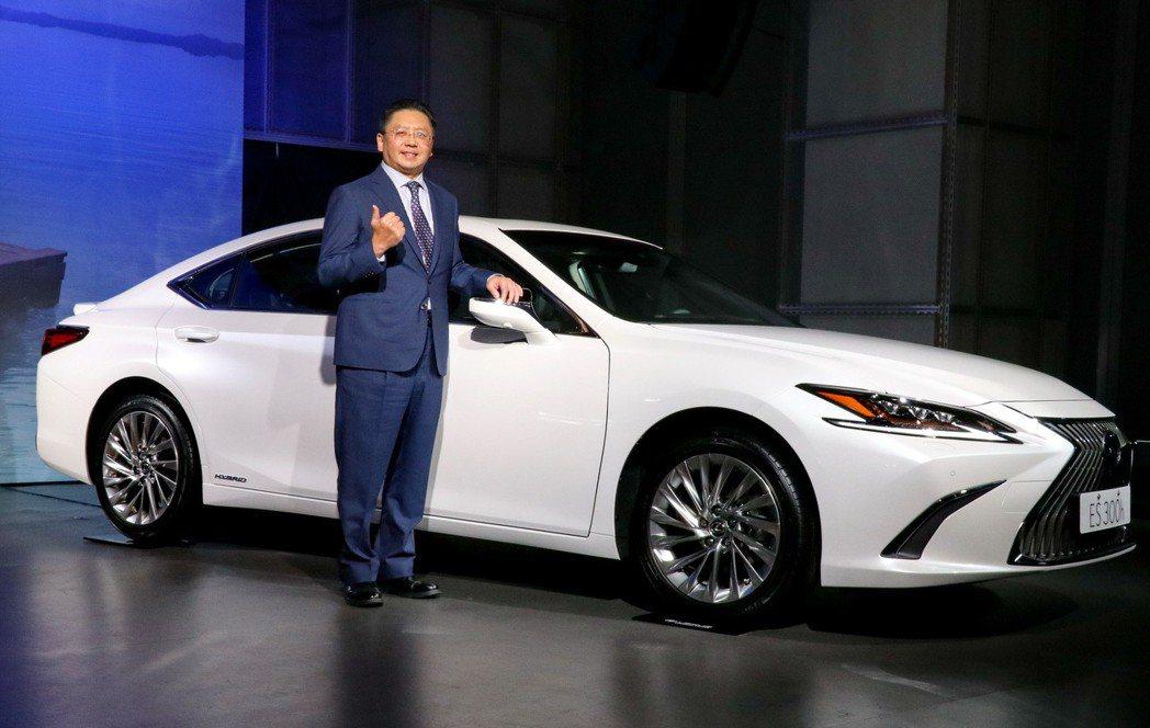 LEXUS總代理和泰汽車發表全新大改款ES300h,並針對2019年式車款提供全HYBRID車系HV電池8年或16萬公里保固。 記者陳威任/攝影