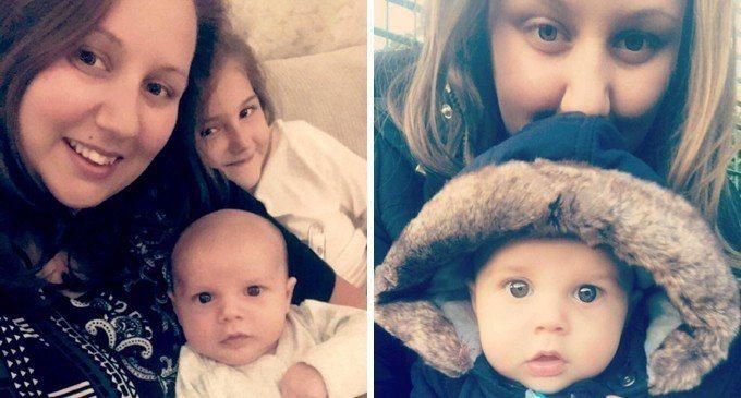 美國媽媽艾麗克斯(Alex Upton)的一根頭髮,險些害10周大的兒子必須截肢...