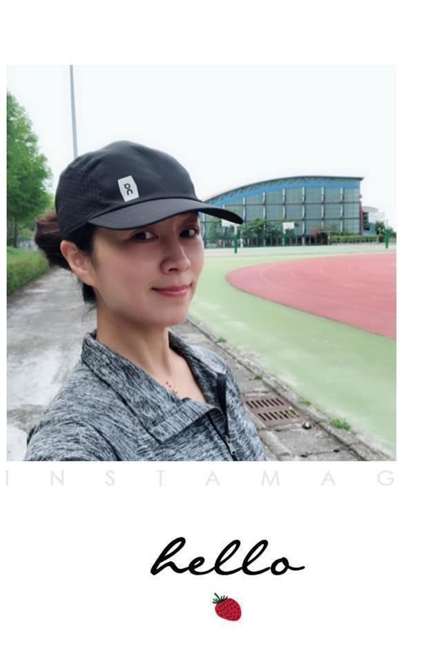 方文琳跑步模樣更顯凍齡。圖/摘自臉書