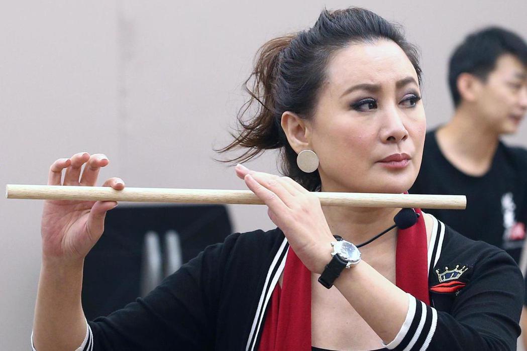 陳亞蘭下午帶領新生代演員展開密集排演《牛郎織女》,將於11月9日至11日在臺中國
