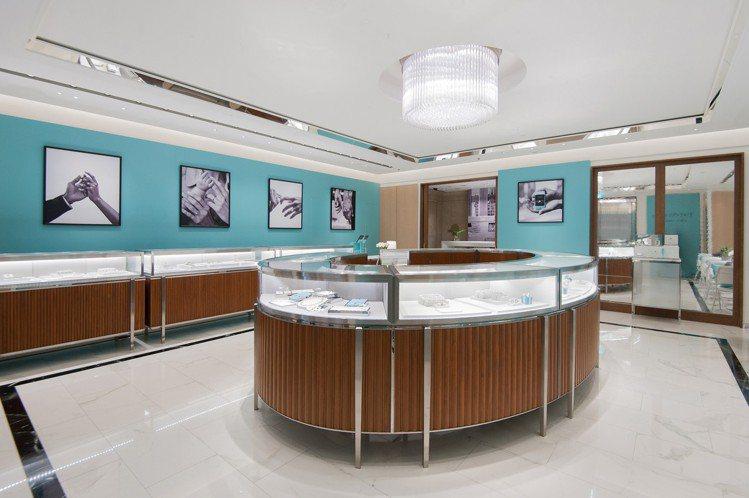 全台第一家Tiffany Love 鑽戒系列概念店於敦化南路開幕。圖/Tiffa...