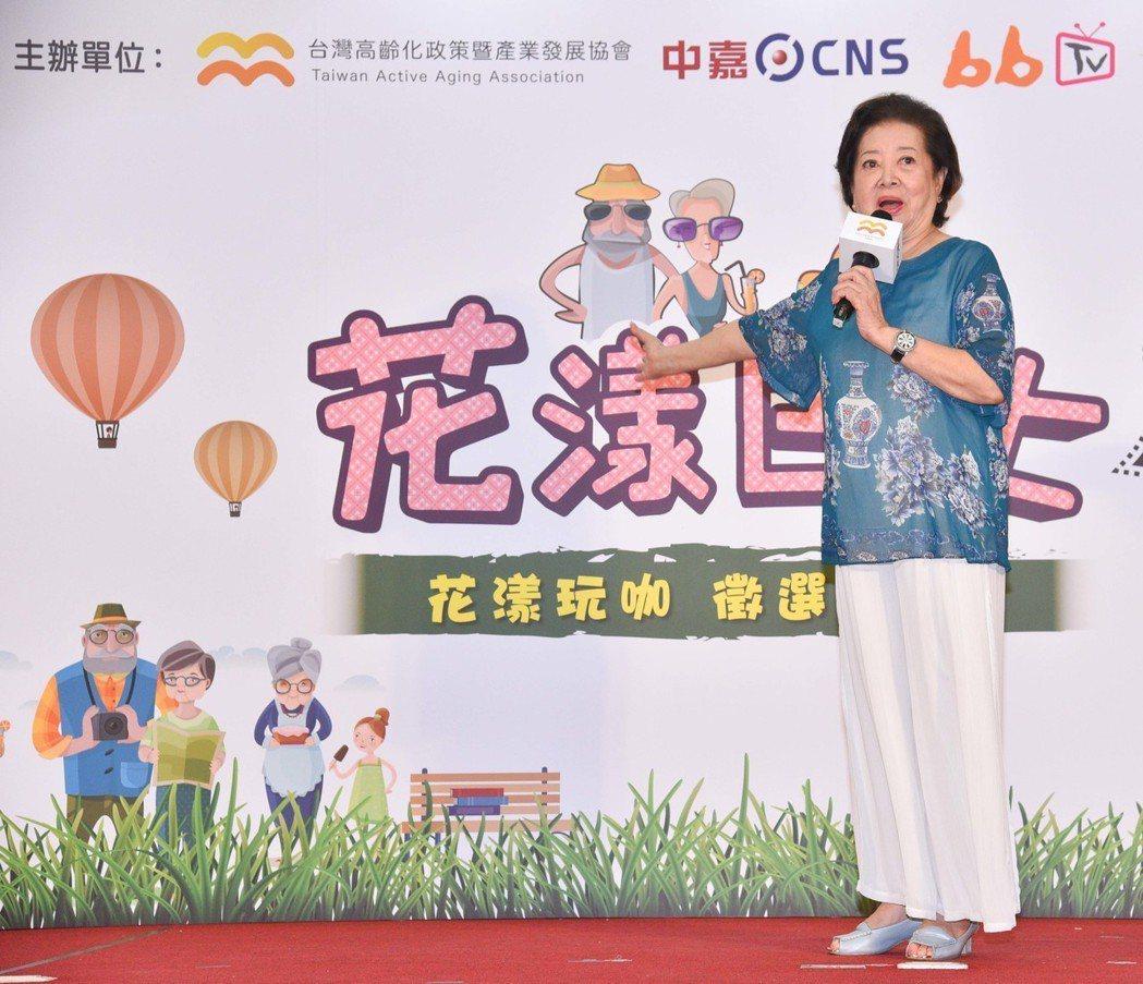 陳淑芳出席活動,分享演技訣竅。圖/中嘉提供
