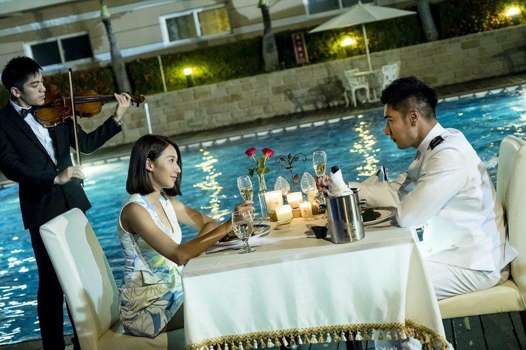 楊晴(左)與羅平劇中感情發展受矚目。圖/TVBS提供
