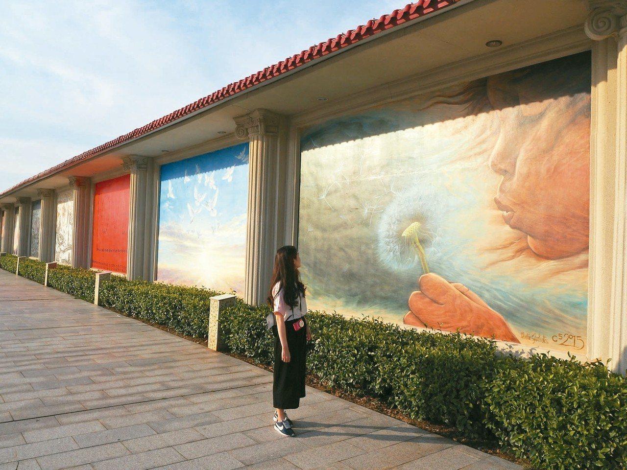 創世界紀錄的畫牆。 特派記者羅建怡/攝影
