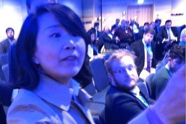 央視女記者孔琳琳掌摑事件,震驚國際。圖/截自視頻