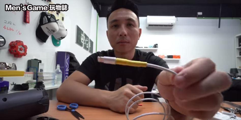 Youtube頻道「Men's Game玩物誌」分享,只要在五金行購買「熱縮套管...